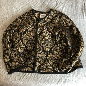 Old Navy baroque black and gold jacket